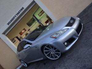 Lexus IS-F  with lowered suspension with Tein springs