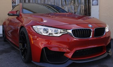 BMW M4 Gets H&R Springs, Akrapovic Exhaust, aFe Intake, Burger JB4, Active Autowerke Downpipes, & Carbon Aero Kit!