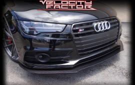 Custom Carbon Fiber Splitter & Aero Kit On Audi S7