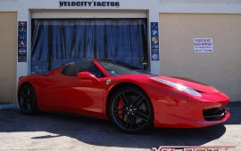 Beautiful Red Ferrari gets the Velocity Factor Treatment!