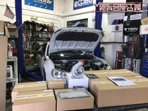 Jackson Racing Supercharger Kit Layed Out Prior to Install